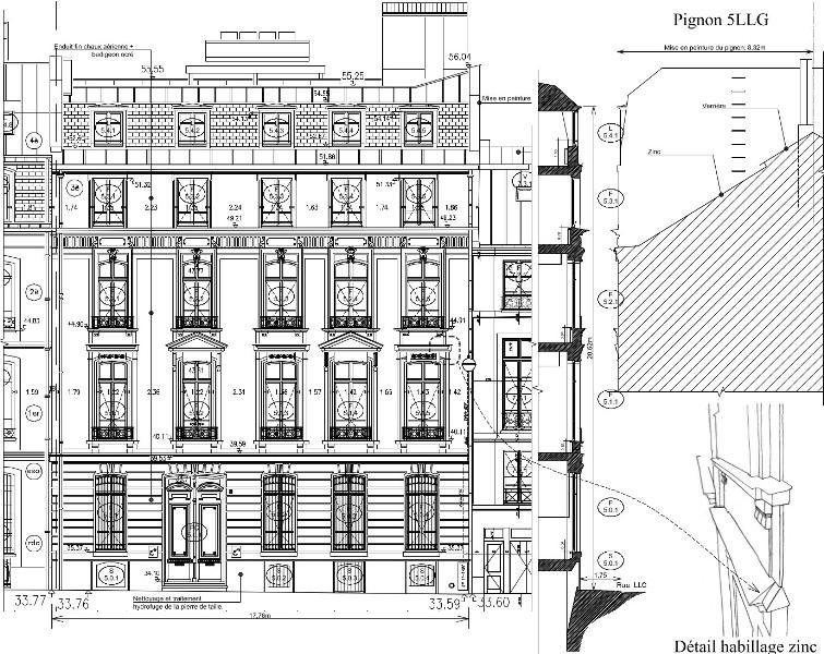 Ravalement 5 rue louis le grand floret - Cout ravalement facade immeuble ...